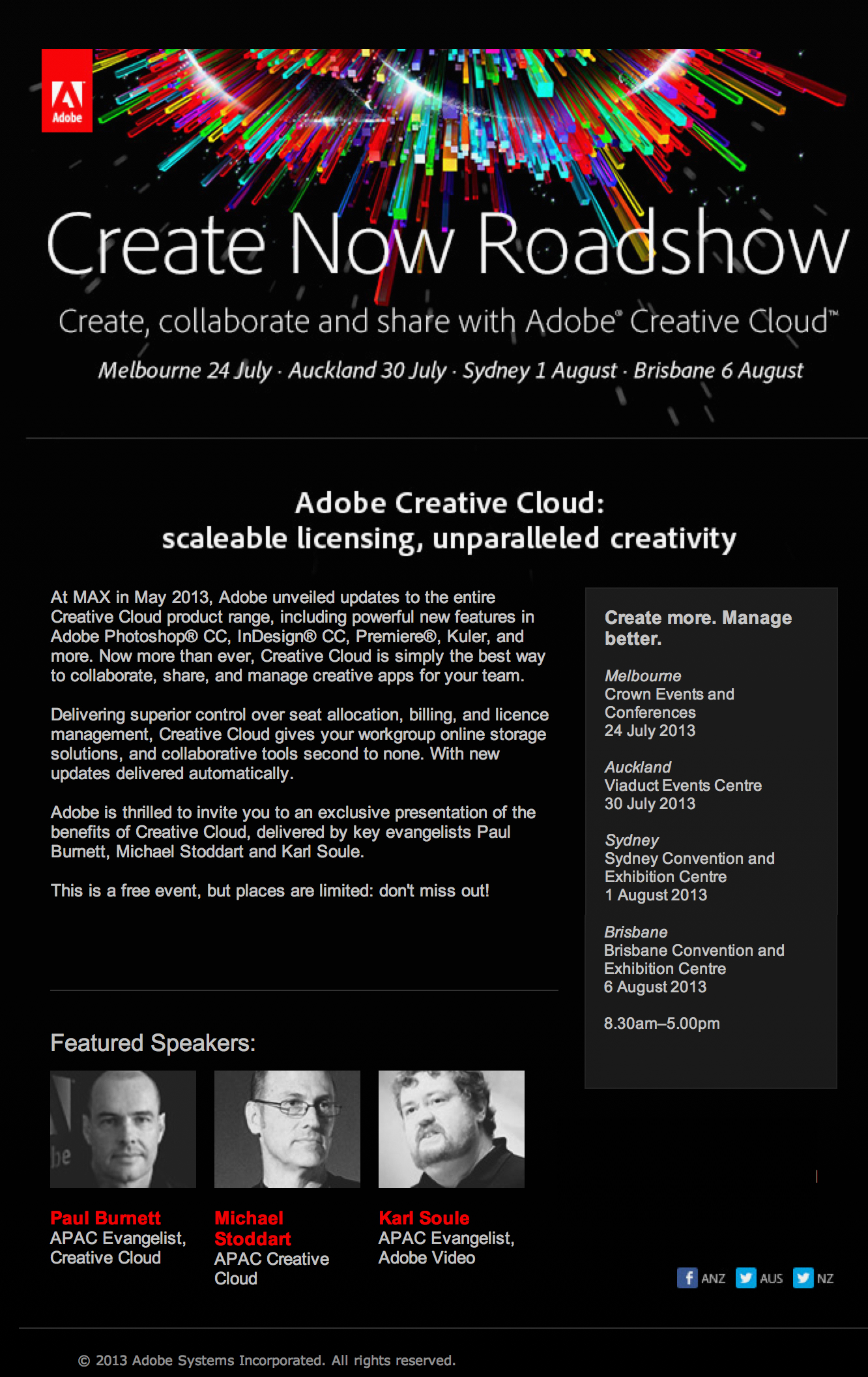 EVENT (NSW / VIC / QLD): Adobe Creative Cloud | Australian