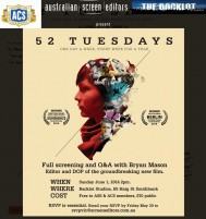 EVENT: 1st June (VIC): '52 Tuesdays' Q&A