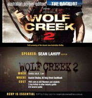 EVENT: July 6th (VIC) Wolf Creek 2