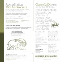 EVENT: 3rd Aug (NSW) The Class of 2004