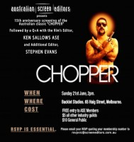 EVENT: CHOPPER SCREENING WITH Q&A (VIC)