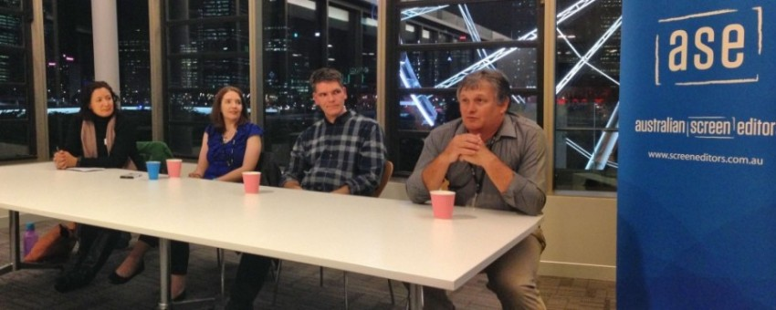 Post Insiders event at ABC Brisbane. Panel discussion with Charlotte Cutting (facilitator), Lisa Domrow, David McSween, Roger Carter